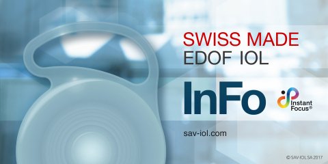 InFo Lens – Swiss Made EDOF IOL for Cataract Surgery (Photo: InFo Lens)