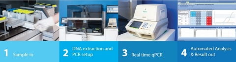 Amplidiag® Easy workflow - Automated nucleic acid extraction and PCR setup directly from stool sampl ...
