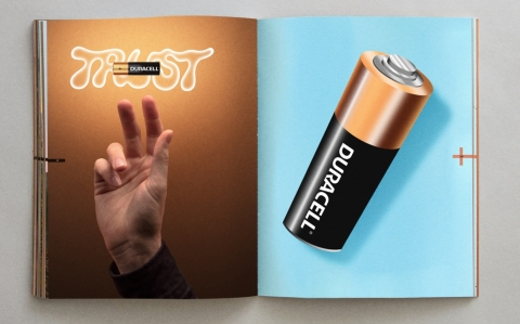 If the spots show your favorite batteries in a whole new light, the first ever Duracell Catalog shows all of the brand's trusted power sources in a new format. Accustomed to being confined to a dark battery compartment dungeon or cluttered kitchen drawer, Duracell batteries finally get their star turn in the catalog, distributed via Instagram (Photo: Business Wire)