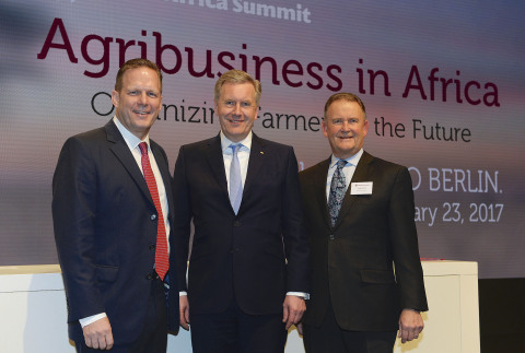 Rob Smith, AGCO Senior Vice President and General Manager, Europe and Middle East (EME); Christian W ...