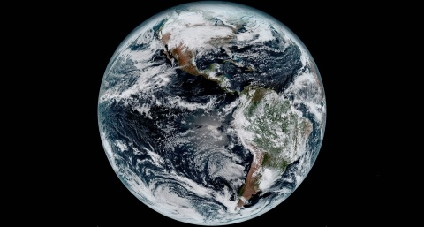 The first image of Earth released from NOAA's GOES-16 weather satellite was taken by the Harris Corp ...