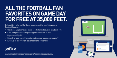 JetBlue Adds Flights So Football Fans Can Touch Down in Houston at The Big Game (Graphic: Business W ...