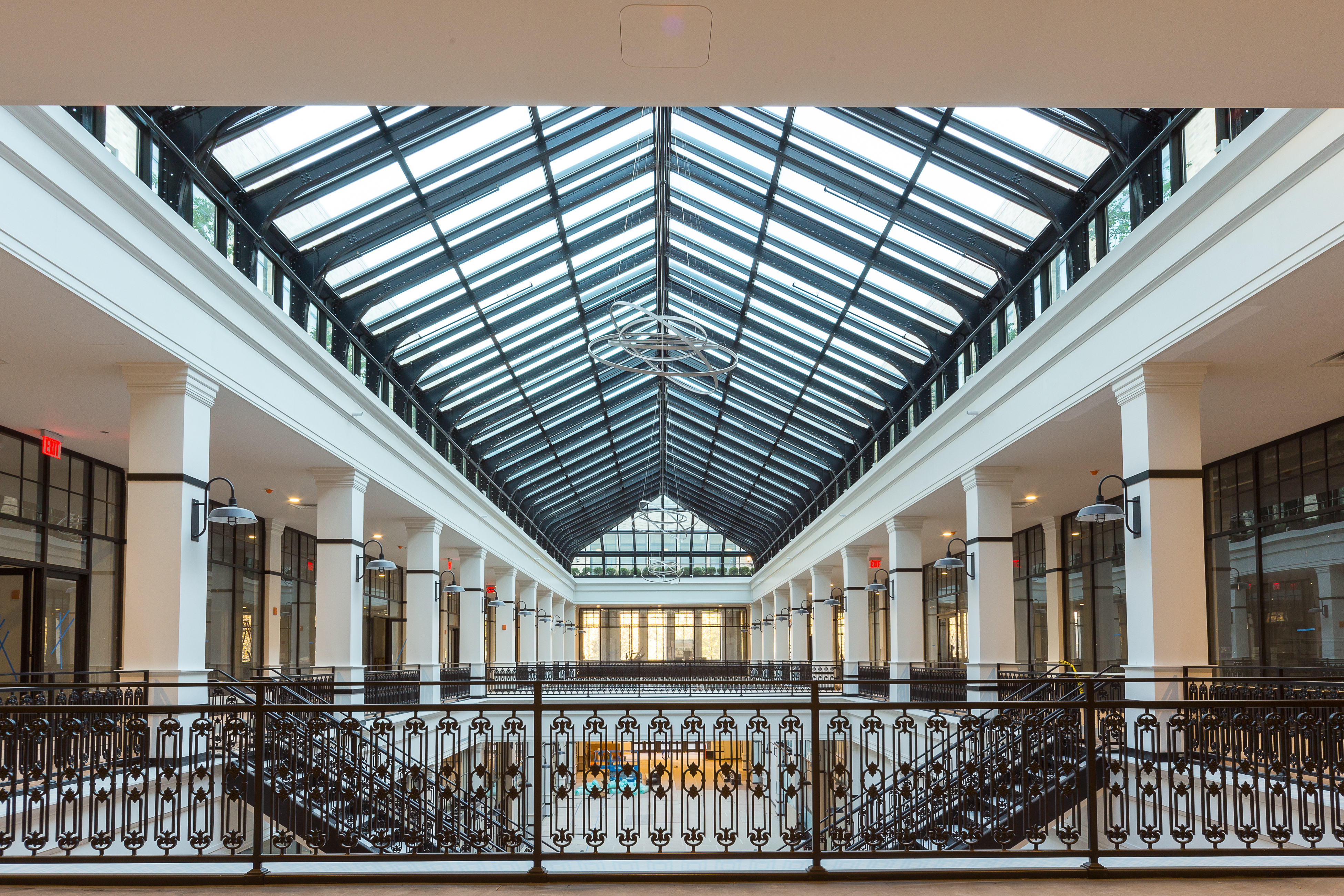 The Hahne & Co. building's stunning skylight was restored pane-by-pane and can be enjoyed for the first time in 70 years. (Photo credit: Sylvester Zawadzki)