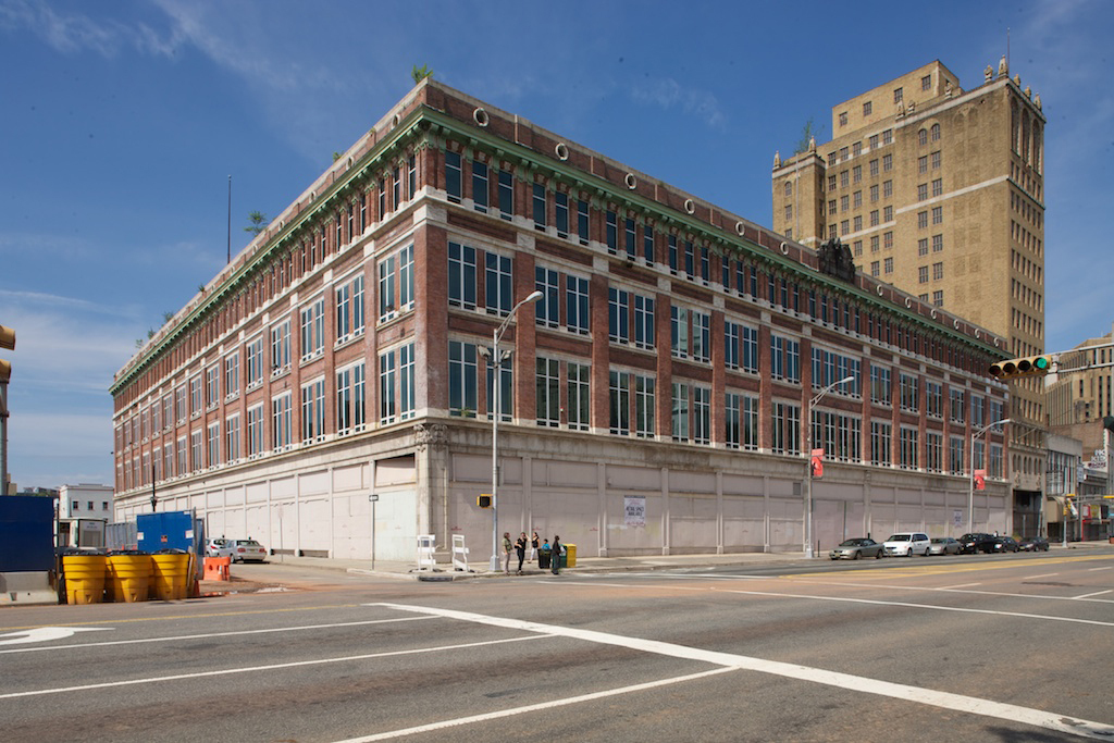 Before redevelopment began, the Hahne & Co. building on Broad Street in Newark, N.J., sat abandoned for decades.