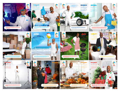 #TheNextMrClean Mike Jackson stars in the 2017 limited edition Mr. Clean calendar.