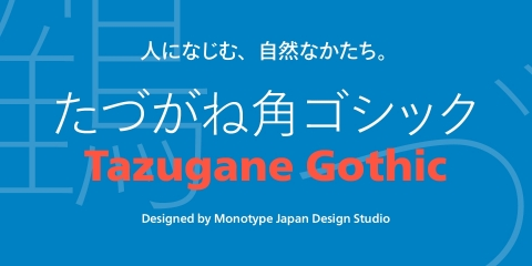 The Tazugane Gothic typeface (Photo: Business Wire)