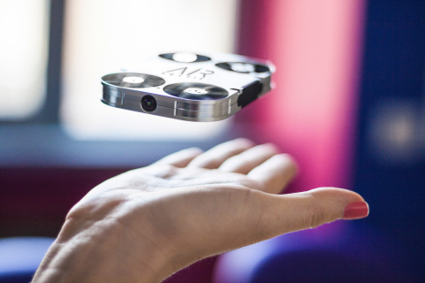 AirSelfie is the first pocket-sized flying camera that integrates with smartphones. (Photo: Business ...