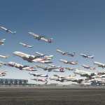 Planes taking off from Dubai International Airport. Courtesy of BBC.