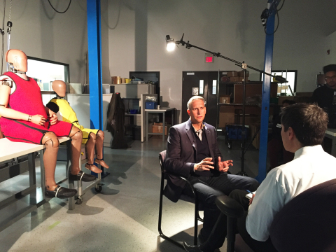 Mr. Christopher J. O'Connor of Humanetics being interviewed on this topic by Dr. Frank McGeorge, Local 4 Medical Reporter on January 5, 2017 for Dateline Detroit 'All About Autos' (Photo: Business Wire)