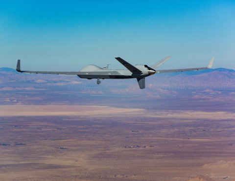 GA-ASI's SkyGuardian RPA takes flight over Palmdale, California (Photo: Business Wire)