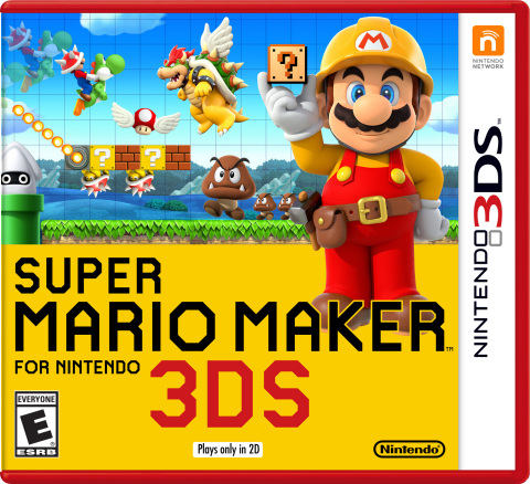 Super Mario Maker for Nintendo 3DS features 100 built-in courses, as well as select courses from the Super Mario Maker game on the Wii U console. In addition, courses that are in progress can be shared with other players via the Nintendo 3DS system's StreetPass feature and local wireless so multiple people can collaborate on building courses together. (Photo: Business Wire)
