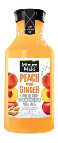 Minute Maid Peach with Ginger Juice Drink is available nationwide in a 59 fl oz serving size (Photo: Business Wire)