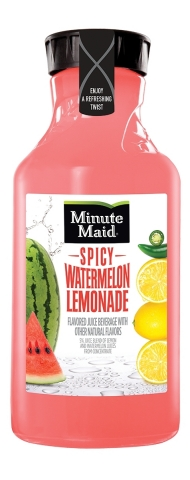 Minute Maid Spicy Watermelon Lemonade is available nationwide in a 59 fl oz serving size (Photo: Business Wire)
