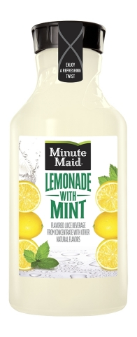Minute Maid Lemonade with Mint is available nationwide in a 59 fl oz serving size (Photo: Business Wire)