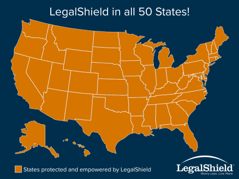 LegalShield in all 50 States (Graphic: Business Wire)