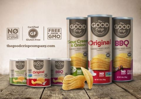 The Good Crisp Company (formerly Mamee Stacked Crisps), today announced the launch of its new line of non-GMO and gluten-free canister potato crisps. (Photo: Business Wire)