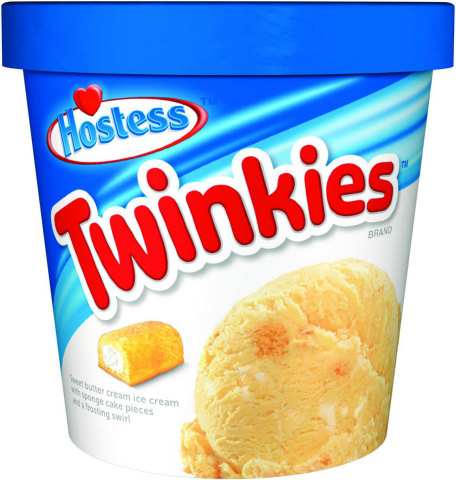 TWINKIES: Just when you thought the mighty Twinkie couldn't get any better, we have come up with a scoopable ode to America's favorite golden snack cake. Bite-sized sponge cake pieces and sweet frosting are swirled together in rich, creamy butter cream ice cream. (Photo: Business Wire)