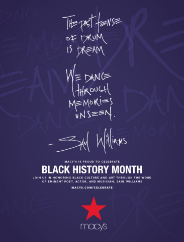 Macy's celebrates Black art, expression and culture during Black History Month (Graphic: Business Wi ...