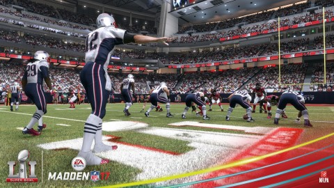New England Patriots win in official Madden NFL 17 Super Bowl LI prediction (Photo: Business Wire)
