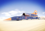 BLOODHOUND Supersonic Car engineered with Sierra Wireless LTE modules and gateways to feed live data and video at 1000 mph (image credit: Flock and Siemens)