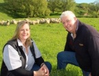 Karen Atkins from Atkins Ranch pictured with Mark Warren of Waipari Station, New Zealand. (Photo: Business Wire)