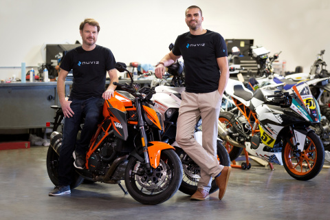 Pictured are NUVIZ's co-founders (left is Marcel Rogalla, Co-Founder at NUVIZ and right is Malte Laass, Co-Founder at NUVIZ). (Photo: Business Wire)