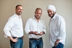 Vinodh Bhat, Rishi Malhotra and Paramdeep Singh, Co-founders of Saavn (Photo: Business Wire)