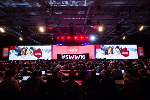 SOLIDWORKS World 2016 General Session at Kay Bailey Hutchison Convention Center in Dallas (Texas). (Photo: Dassault Systèmes)