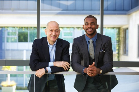 Bobby Turner and Chris Paul at Turner Impact Capital's office in Santa Monica, Calif. (Photo: Business Wire)