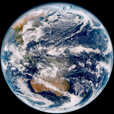 The first picture taken by the Harris-built Advanced Himawari Imager onboard Japan's Himawari-9 weat ...