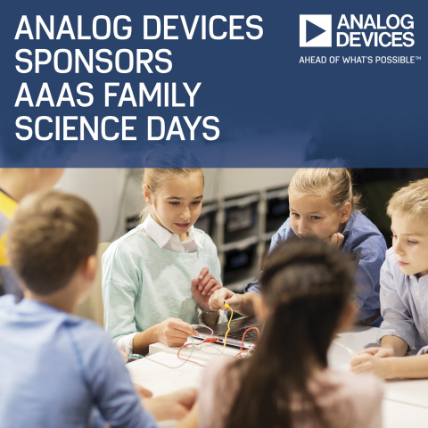 Analog Devices Sponsors AAAS Family Science Days (Photo: Business Wire)