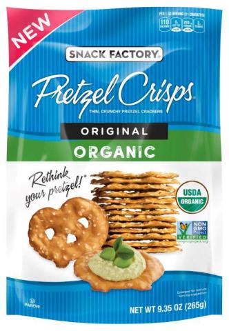 Snack Factory® Organic Original Pretzel Crisps® (Photo: Business Wire)