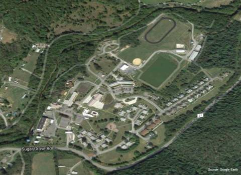Aerial view of Sugar Grove Naval Base in Pendleton County, West Virginia (Photo: Business Wire)