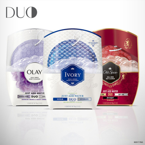 NEW Olay, Old Spice and Ivory DUO unites the clean of a beauty bar with the care of a body wash. (Photo: Business Wire)