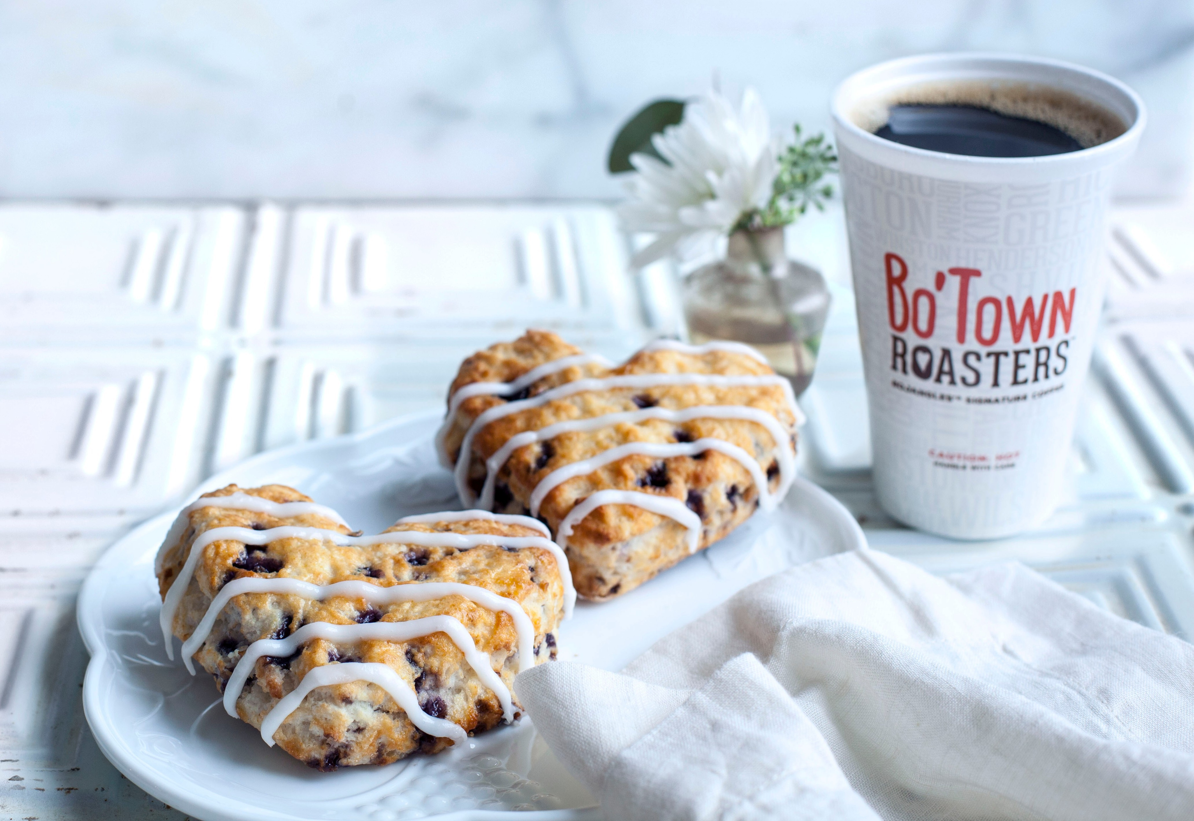 Bojangles' Heart-Shaped Bo-Berry Biscuits are the perfect sweet treat this Valentine's Day. (Photo: Bojangles')