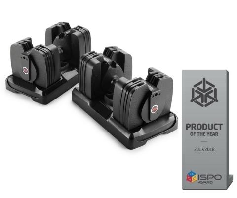 Bowflex® SelectTech® dumbbells earn ISPO Product of the Year Award. (Photo: Business Wire)
