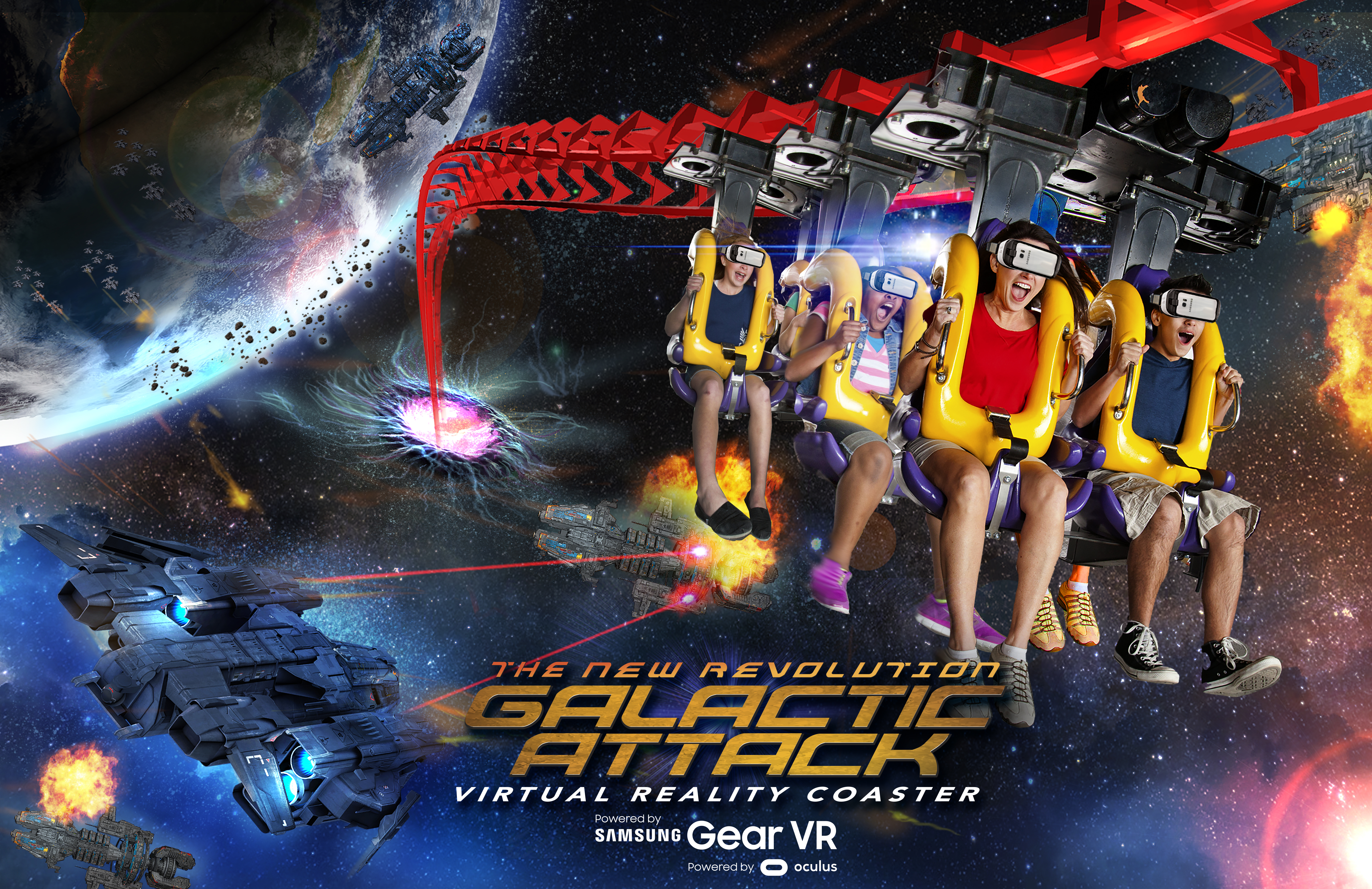 The New Revolution Galactic Attack at Six Flags (Graphic: Business Wire)