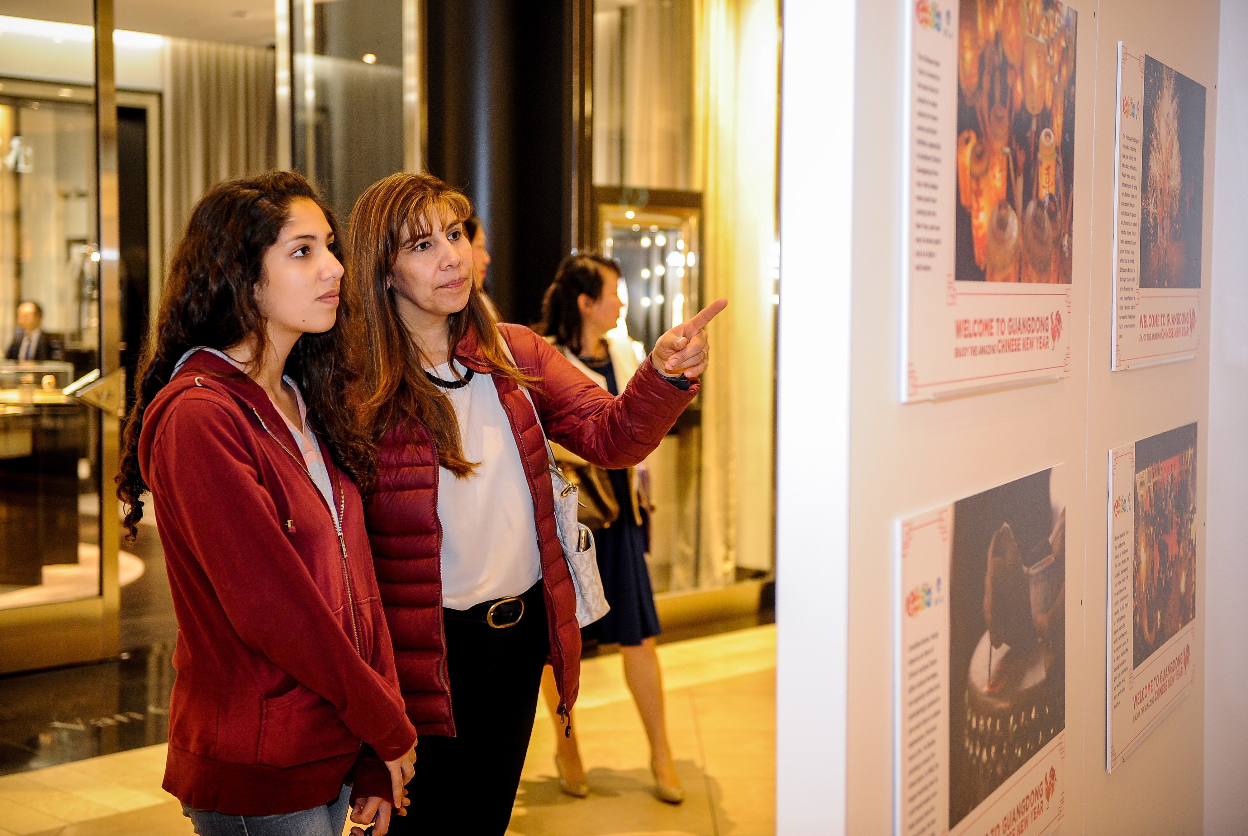 """The """"Happy Spring Festival"""" photo exhibition in South Coast Plaza Mall at Los Angeles. (Photo: Business Wire)"""