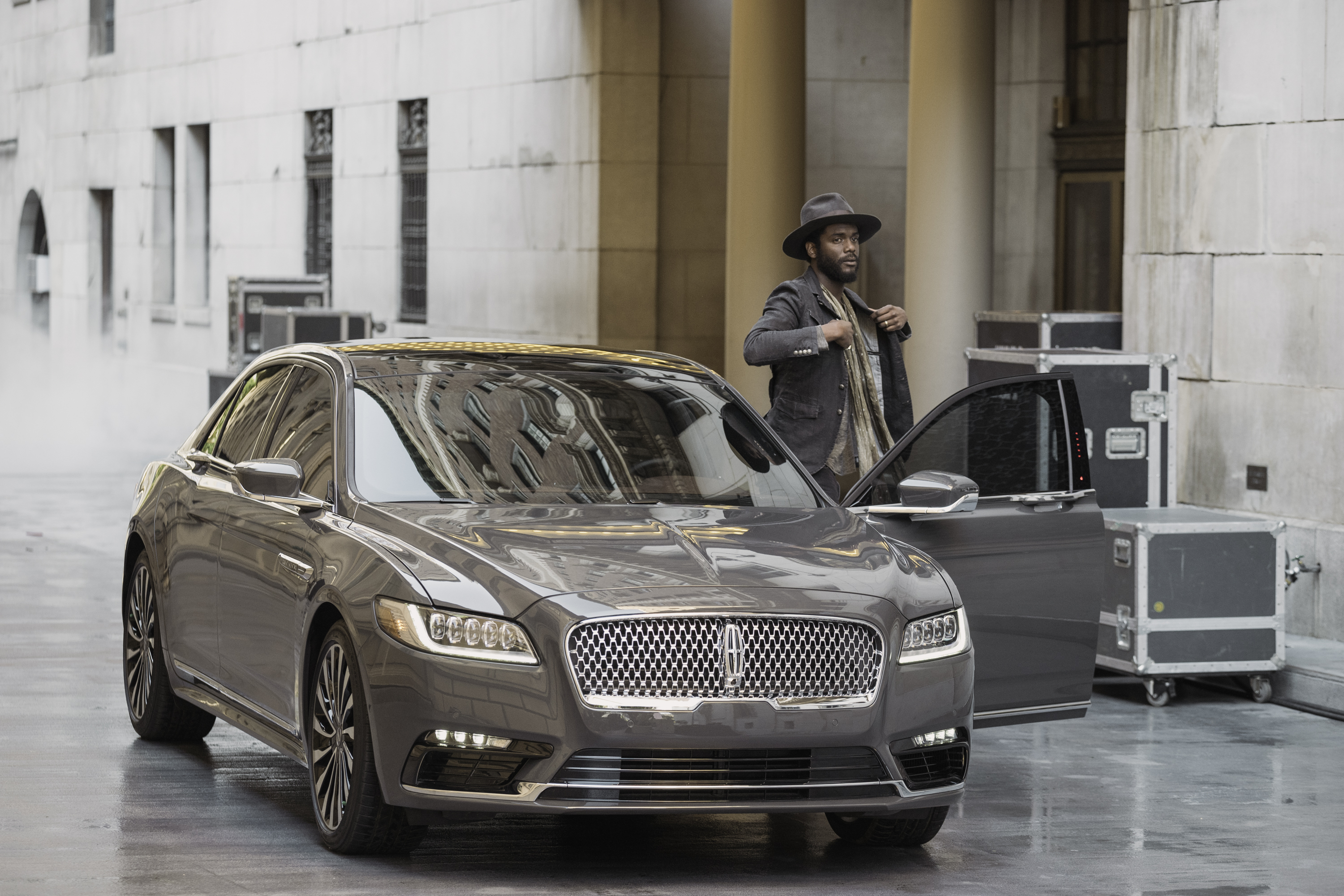 Singer/songwriter Gary Clark Jr., with the 2017 Lincoln Continental. (Photo: Business Wire)