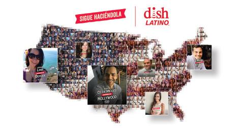 "DishLatino invites Latinos to share their ""Sigue Haciéndola"" story via customized photo platform and digital American flag mosaic. (Photo: Business Wire)"