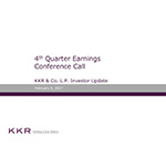 KKR & Co. L.P. Supplemental Operating and Financial Data for the Quarter Ended December 31, 2016