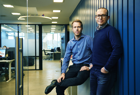 From left: Patrik Berglund, CEO & Co-founder, Xeneta; Thomas Sørbø, CBDO & Co-founder, Xeneta