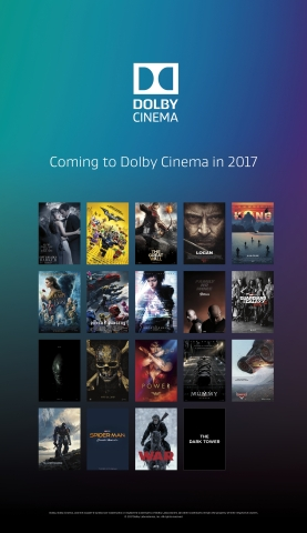 Dolby Cinema offers a strong slate of 2017 feature titles across many genres. (Graphic: Business Wire)