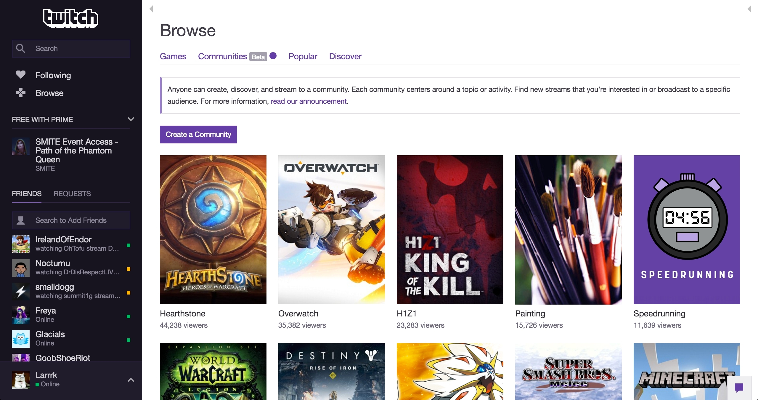 Twitch Introduces Communities, a New Way to Discover Content and
