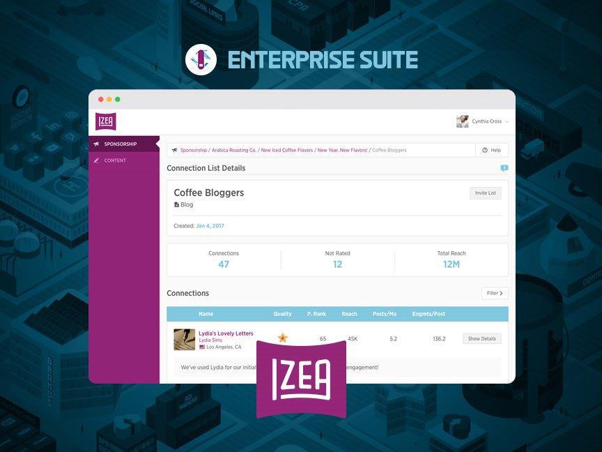 IZEA Unveils Enterprise Suite for Brands & Agencies. (Graphic: Business Wire)
