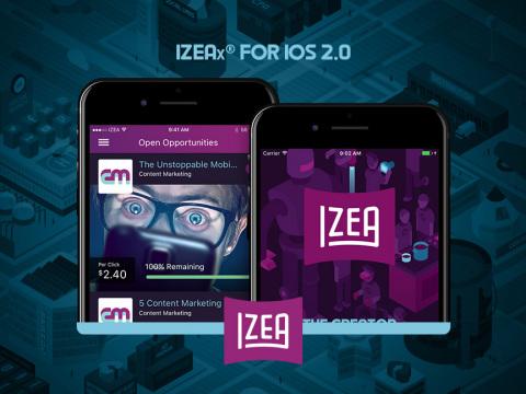 IZEA Releases IZEAx for iOS 2.0 (Photo: Business Wire)