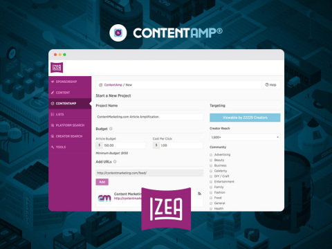 IZEA Announces ContentAmp: Programmatic Content Amplification Through Social Media Influencers (Photo: Business Wire)