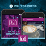 IZEA Debuts IZEAx for Android. (Graphic: Business Wire)