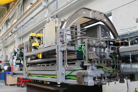 The Bruce Reactor Inspection Maintenance System (BRIMS) nears completion at BWXT's Peterborough facility. (Photo: Business Wire)
