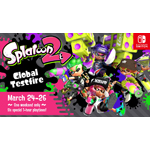 The Splatoon 2 Global Testfire will give Nintendo Switch owners six chances to play with other owners worldwide during the three-day event. (Graphic: Business Wire)